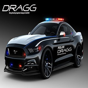 Ford Mustang Dragg Police Car