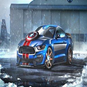 Captain America Superhero Car