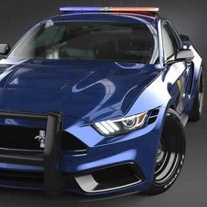 Police Mustang Jigsaw